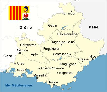 Carte Region Paca.Le Vaucluse La Region Paca Entraigues