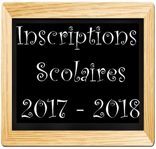 Inscriptions scolaires pour l'année 2017-2018