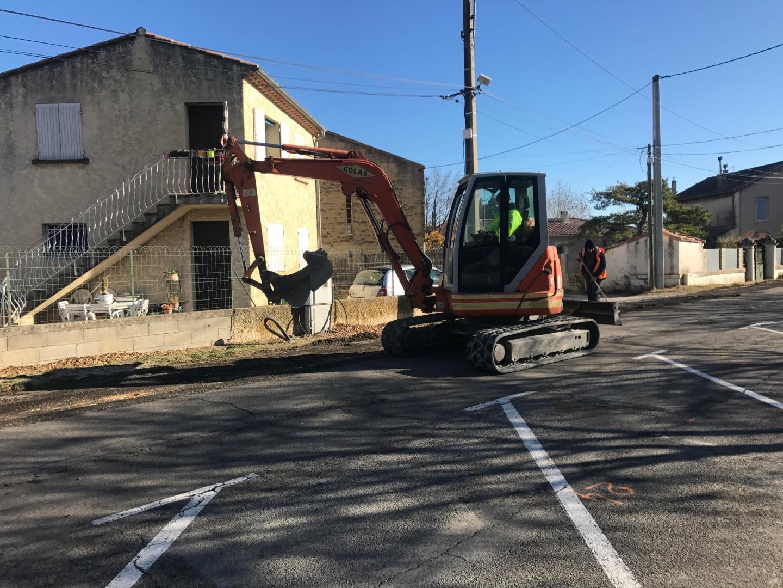 Info travaux : Travaux d'aménagement d'un cheminement piétons chemin du Moulin des Toiles ont débuté