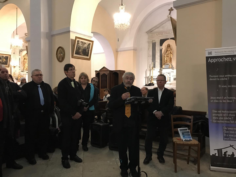 La crèche de l'église inaugurée !