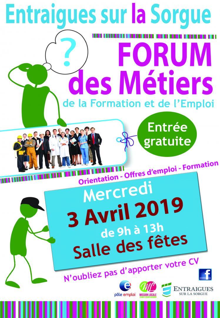 Rdv le mercredi 3 avril pour le Forum de l'emploi