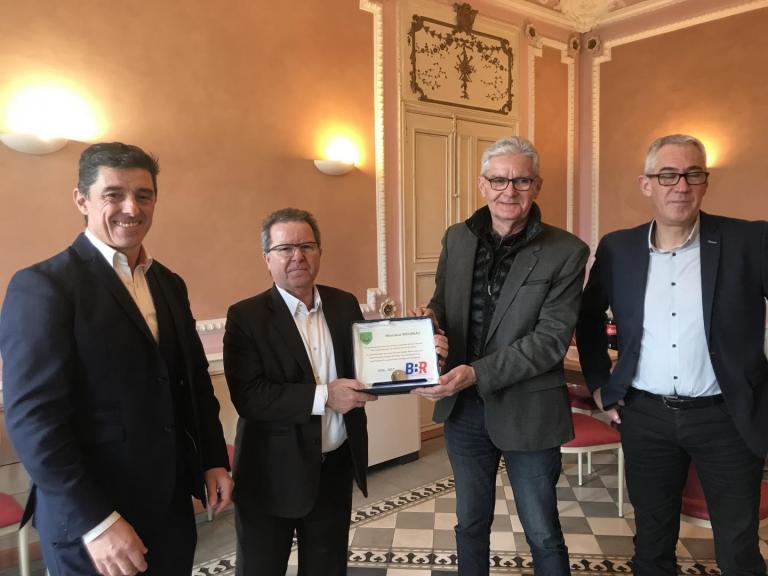 Guy Moureau reçoit le trophée BBR
