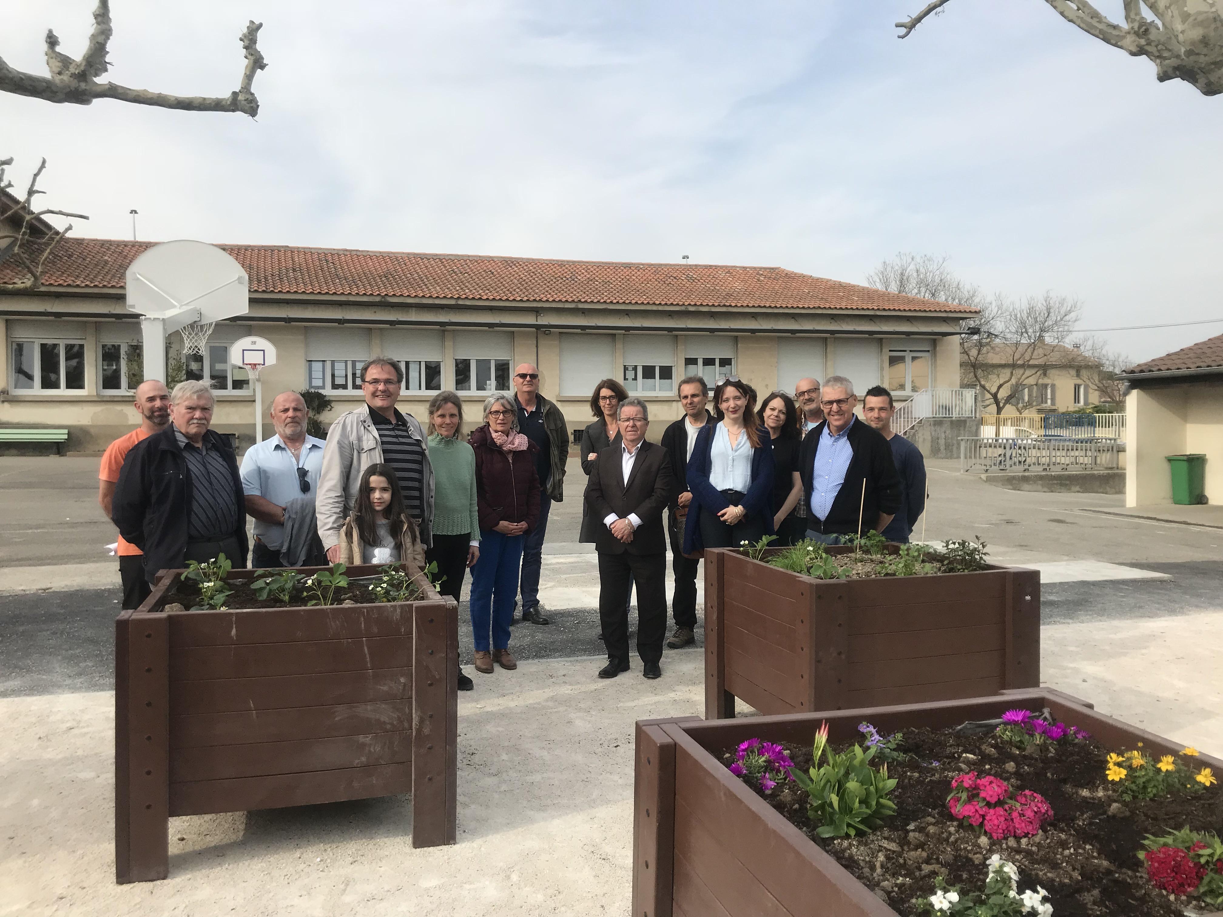 Le jardin pédagogique de l'école Marie Mauron inauguré