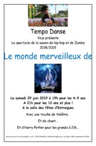 affiche spectacle E juin 2019