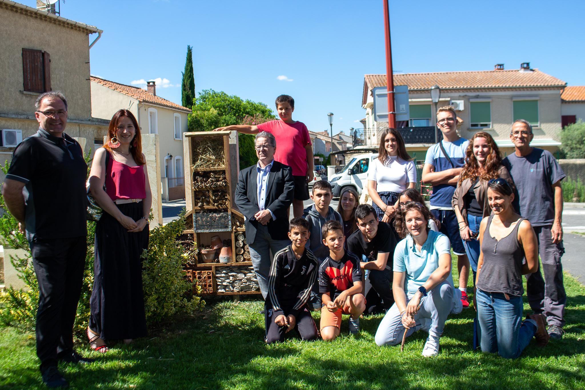 La commune inaugure son premier hôtel à insectes
