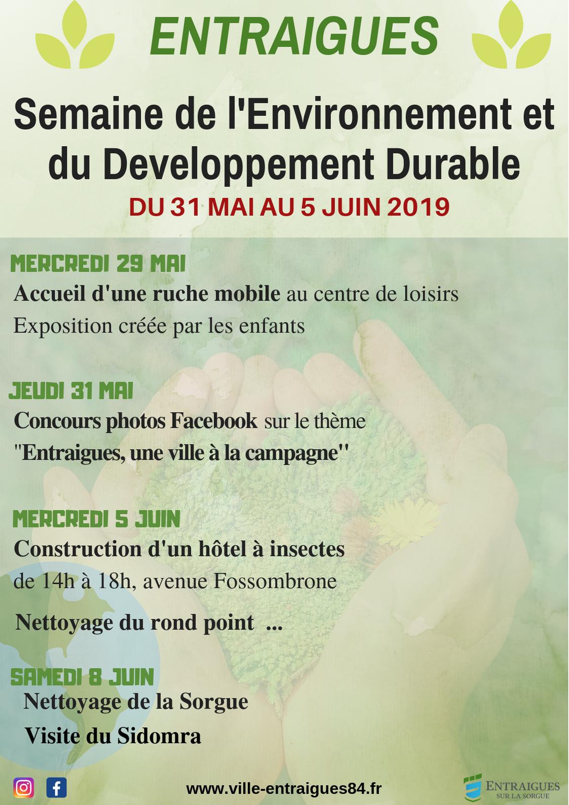 Une semaine aux couleurs du développement durable