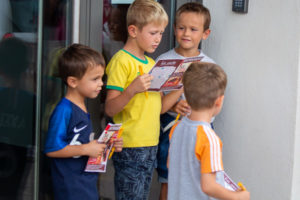 Les enfants à la fête pour les journées du Patrimoine