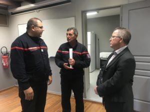 Le nouveau directeur départemental des pompiers visite la caserne