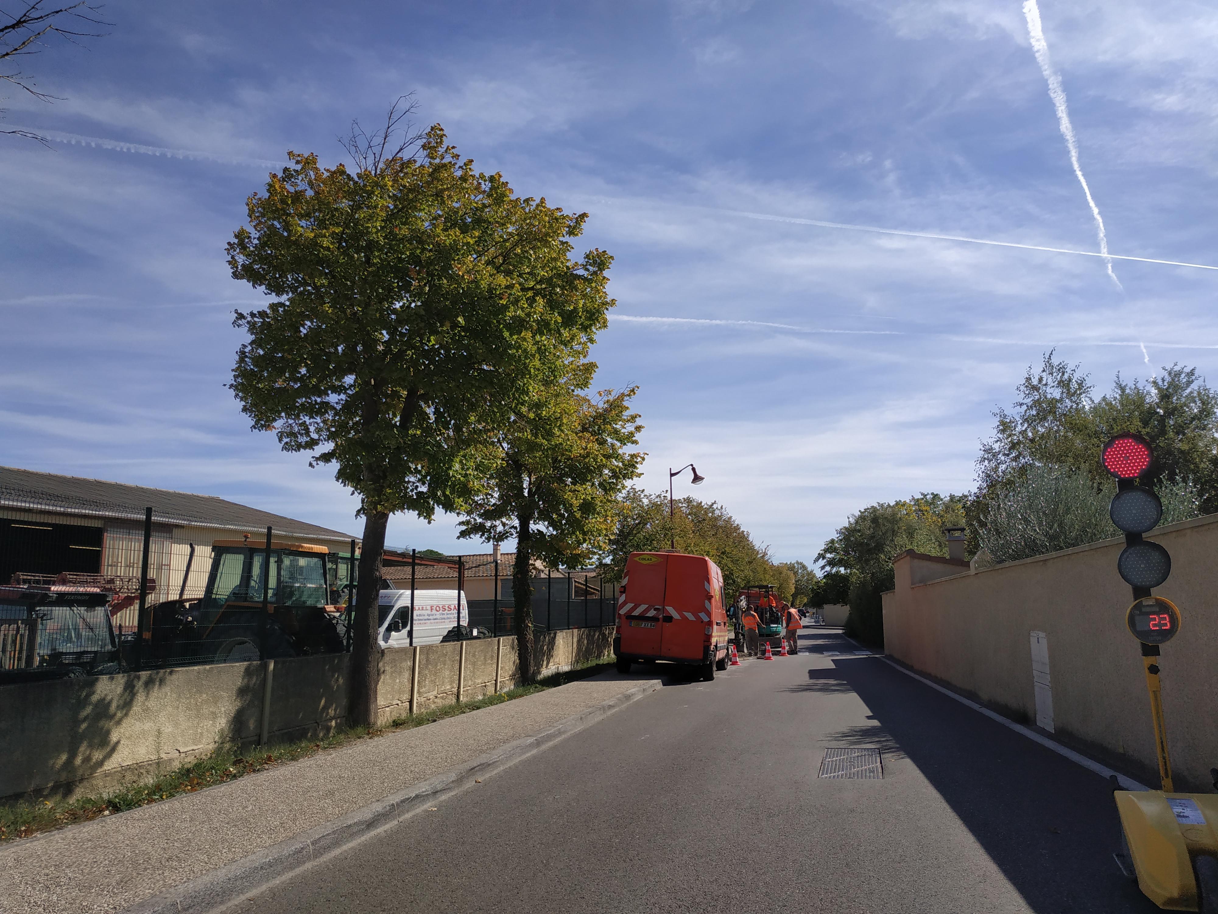 Travaux de rétrécissement de chaussée avenue des Poètes