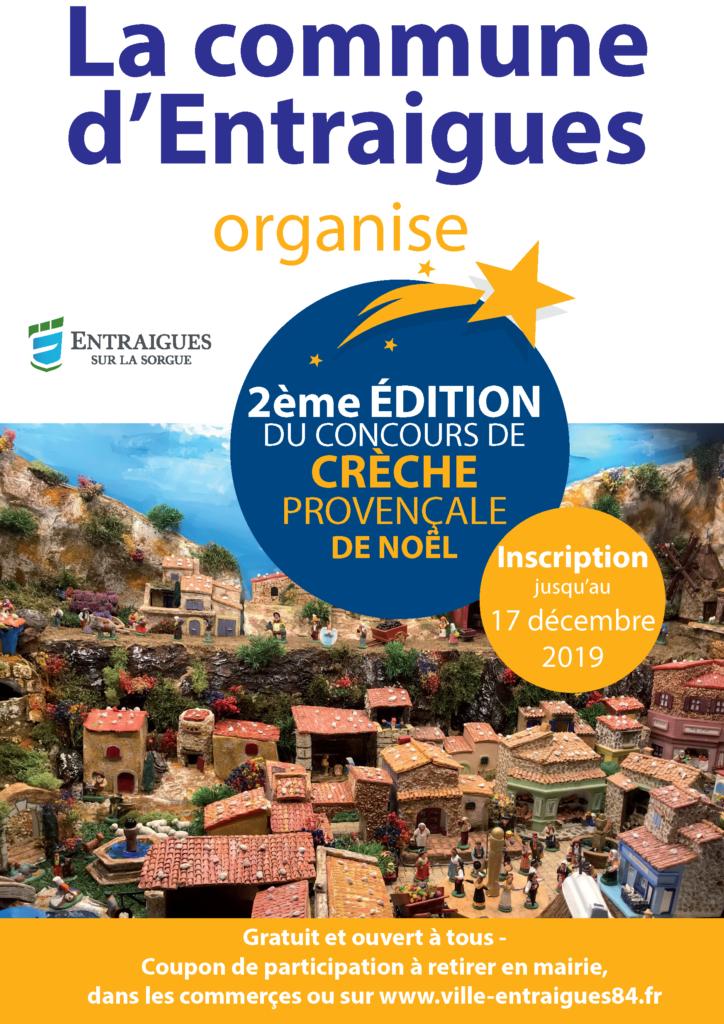 affiche pour la concours de crèches provençale