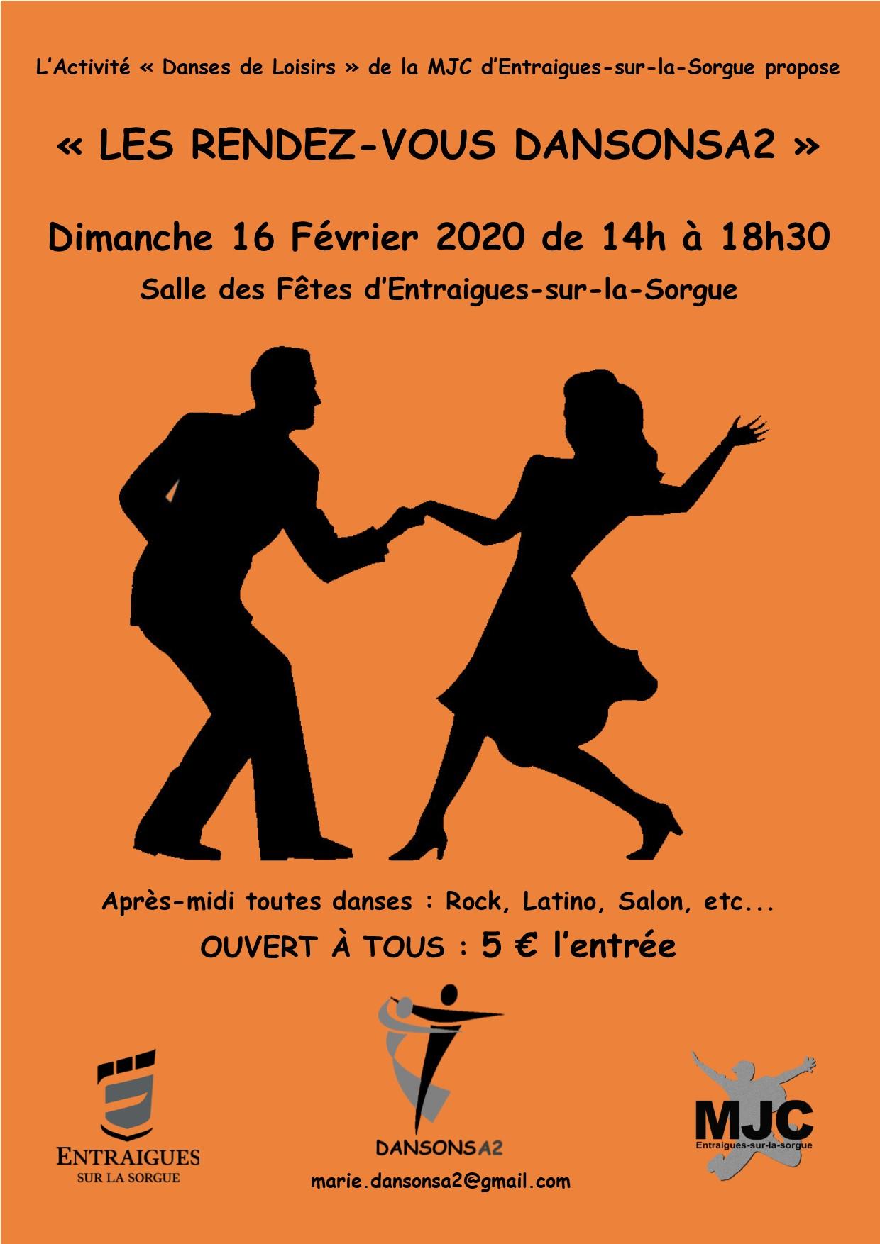 Affiche pour l'après midi dansons à 2
