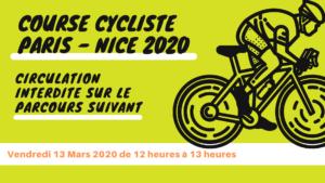 La course Paris – Nice passera par Entraigues le 13 mars