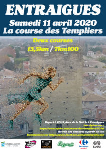 Affiche course des templiers 2020