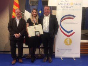 """Séverine Gamba reçoit le diplôme du concours """"d'un des Meilleurs Ouvriers de France"""" !"""