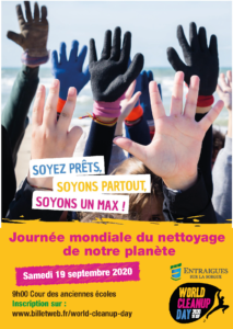 affiche world cleanup day 2020