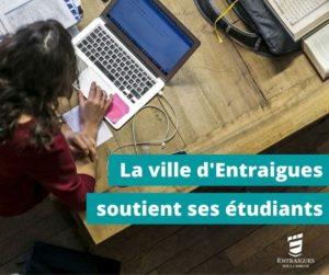 LA VILLE D'ENTRAIGUES SOUTIENT SES ÉTUDIANTS