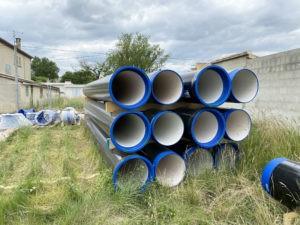 Importants travaux de renouvellement d'une conduite d'eau potable